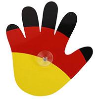 Winkende Hand mit Saugnapf für PKW-Fenster