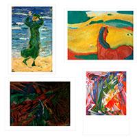 Franz Marc 4er-Set Künstler-Postkarten