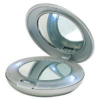 Formschöner Taschenspiegel - Diva - mit LED-Beleuchtung