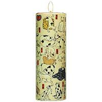 Teelicht-Halter mit Katzen-Motiv des japanischen Meisters Kuniyoshi