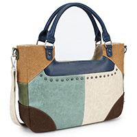 Apart-verspielte Handtasche: Rose Marie Dark Blue von Noi-Noi