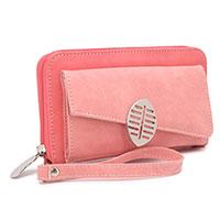 XL-Portemonnaie mit Handy-Fach: Blade Red / Pink von HI-DI-HI