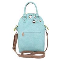 Stylische Handtasche Lotus – braun/aqua/grün