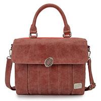 Zauberhafte zweifarbige Handtasche: Folly - rot/dunkelrot von Hi-Di-Hi