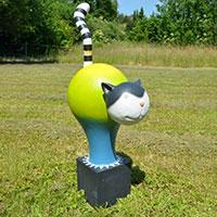 Outdoor-Katze grün