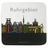 Stilvolle Glas-Untersetzer - Ruhrgebiet -