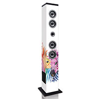"Lenco Speaktower IBT-6 mit Motiv ""Zebra"""