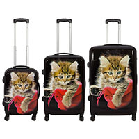 3-teiliges Kofferset - Katze II -