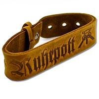 Ruhrpott-Armband aus braunem Leder