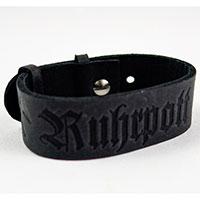 Ruhrpott-Armband aus schwarzem Leder