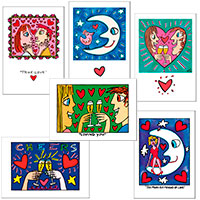 Postkarten-Set James Rizzi - Love -