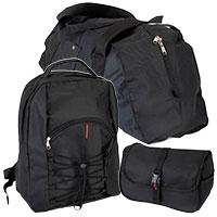 Taschenset - Outdoor - Reisetasche, Rucksack und Kulturbeutel