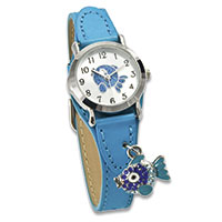 Crystal Blue Kinderuhr - Happy Fish -
