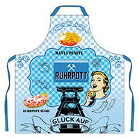 """Schürze """"Ruhrpott"""" mit köstlichem Revier-Design!"""