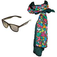 perro negro Set: Schaltuch und Sonnenbrille