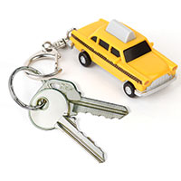 LED-Schlüsselanhänger -Yellow Cab-