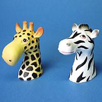 BRILLENHALTER  Giraffe und Zebra 2er-Set