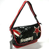 Handtasche mit Überschlag -Sunny- - schwarz