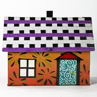 Briefkasten Haus -orange-