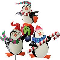 Pinguin mit Stab - drei verschiedene Motive