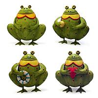 Metallspardose Frosch in 4 Varianten