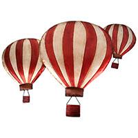 Drei schwebende Ballons – ein zauberhaftes Wandrelief!
