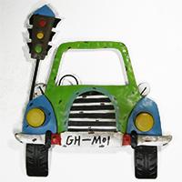 Shabby Chic: Metallbild Auto