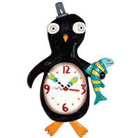Wanduhr Pinguin mit Pendel