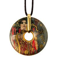 GUSTAV KLIMT Porzellan-Amulett -Medizin-