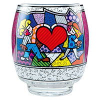 ROMERO BRITTO Windlicht -Heart Kids-