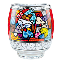 ROMERO BRITTO Windlicht -Happy Cat Snob Dog-