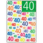 3D-Karte 40. Geburtstag