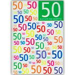 3D-Karte 50. Geburtstag