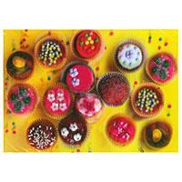 3D-Karte bunte Muffins