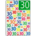 3D-Karte 30. Geburtstag
