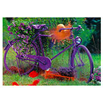 3D-Karte lila Fahrrad