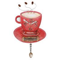 Wanduhr mit Pendel -Cappuccino-