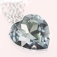 Herzcollier -Kristall-