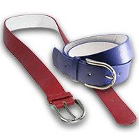 """Gürtel """"Coloured Fashion"""" rot oder blau"""