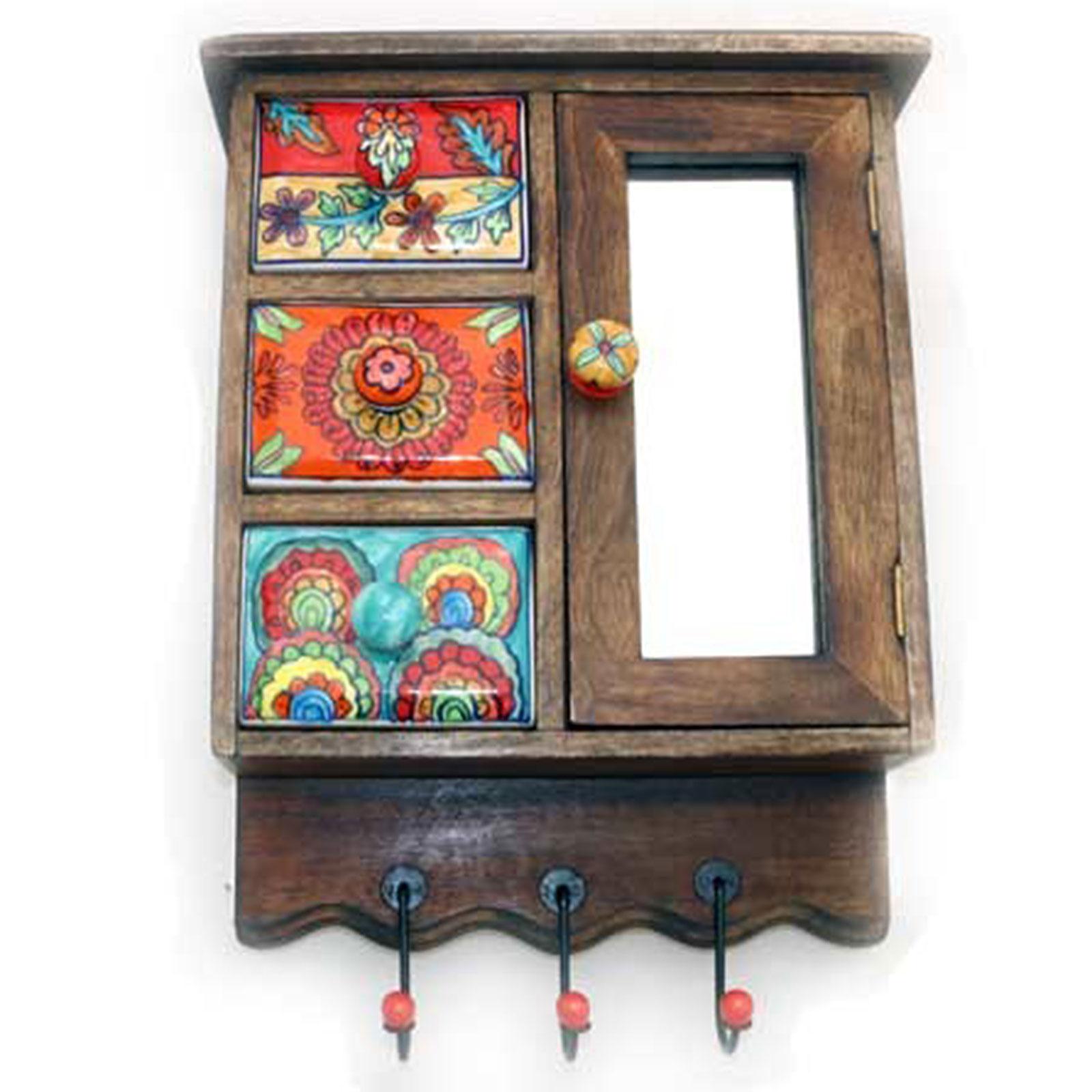 h ngeschrank mit glast r und keramiksch ben. Black Bedroom Furniture Sets. Home Design Ideas