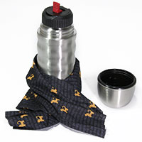 Set: perro negro Vario-Fashion-Tube und emsa Thermosflasche -Admiral-