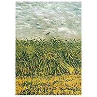 Schreibblock Motiv Van Gogh -Getreidefeld mit Mohnblumen und Lerchen-