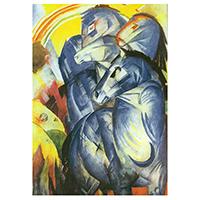 Schreibblock Motiv Franz Marc -Der Turm der blauen Pferde-