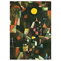 Schreibblock Motiv Paul Klee -Der Vollmond-