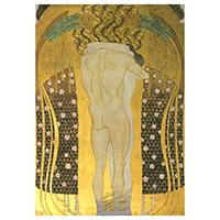 Schreibblock Motiv Gustav Klimt -Diesen Kuss der ganzen Welt-