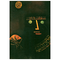 Schreibblock Motiv Paul Klee -Schwarzer Fürst-