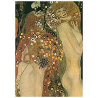 Schreibblock Motiv Gustav Klimt -Wasserschlangen II-
