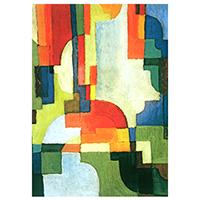Schreibblock Motiv August Macke -Farbige Formen I-
