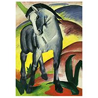Schreibblock Motiv Franz Marc -Blaues Pferd-