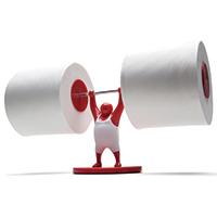 Mr. T Toilettenpapierhalter rot